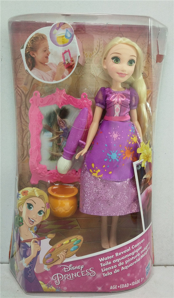 Primary image for Hasbro Disney Princess Rapunzel's Water Reveal Canvas Doll