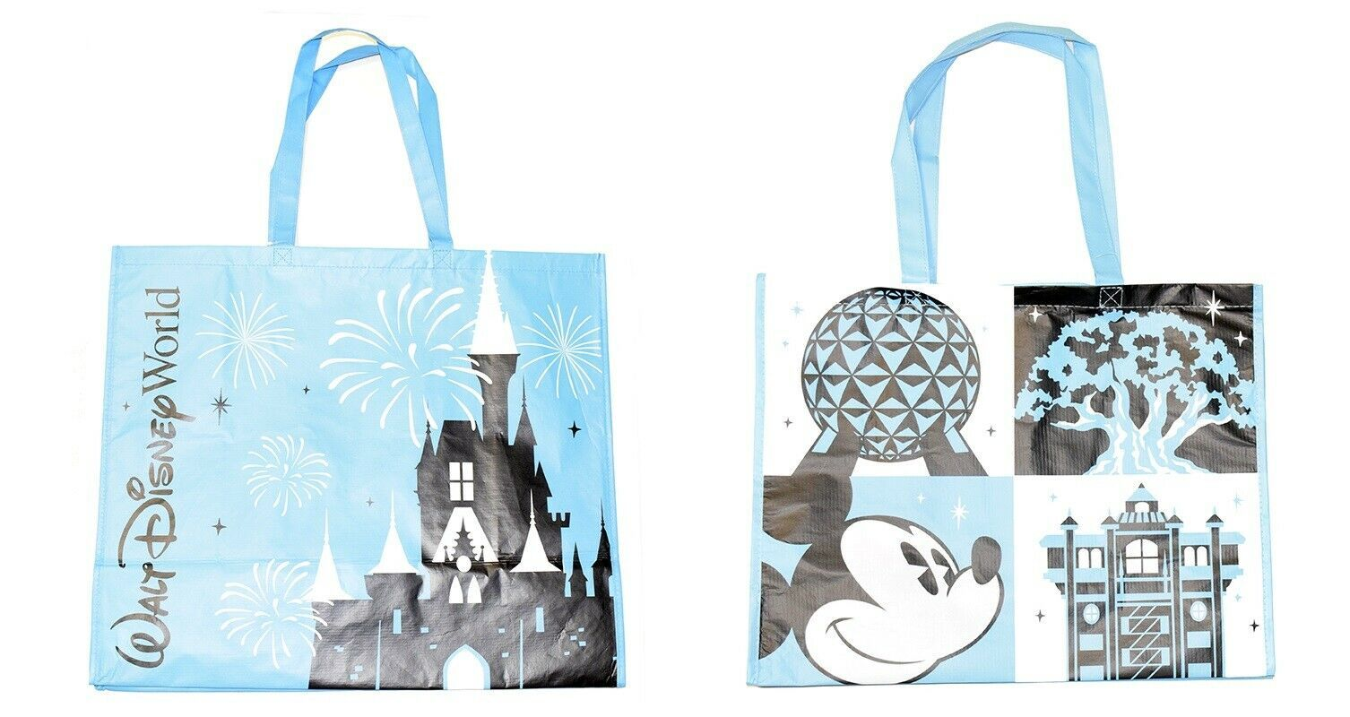 new Walt Disney World REUSABLE BAG shoppers tote 4 theme parks pictures souvenir - $14.75
