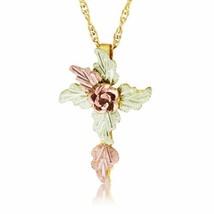 Foliage Cross Pendant & Necklace - Black Hills Gold - $138.00
