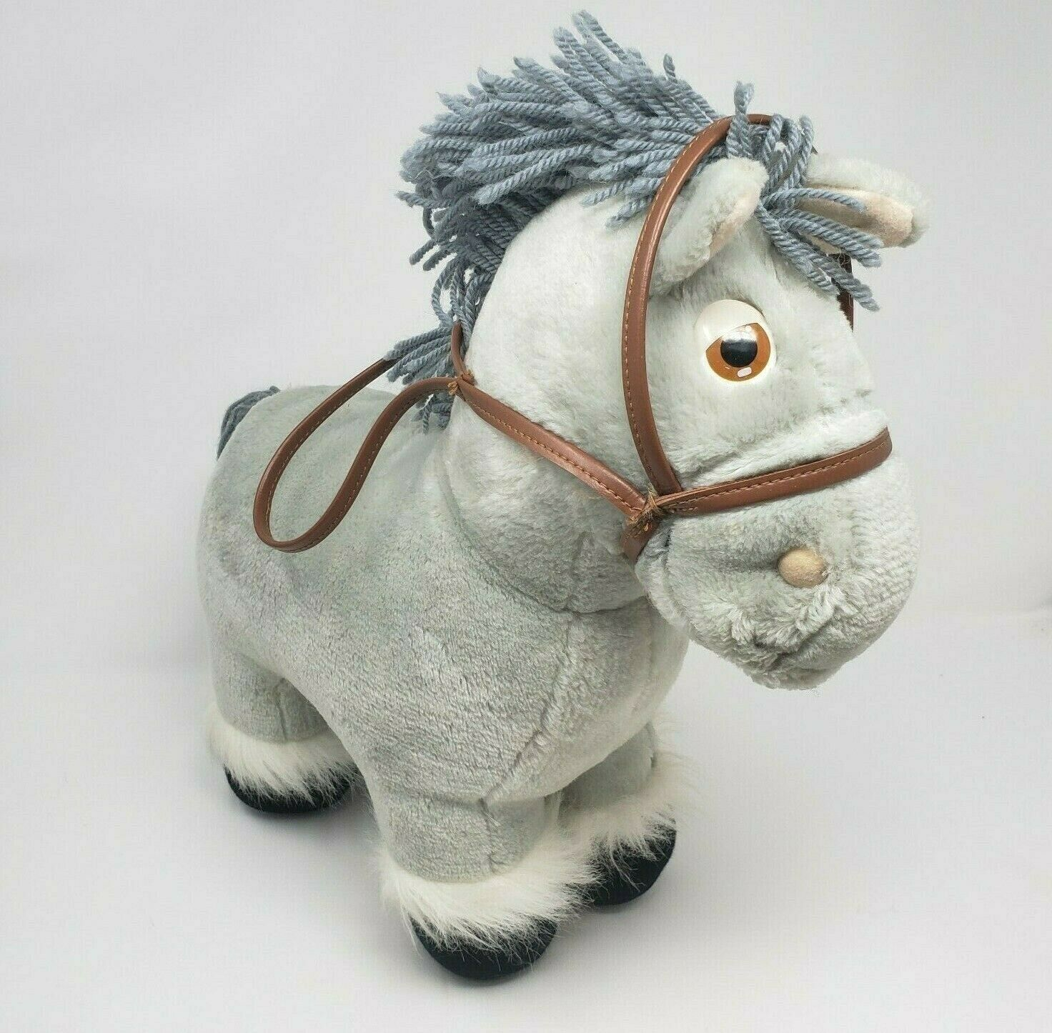 Primary image for VINTAGE 1984 CABBAGE PATCH KIDS HORSE PONY CPK COLECO STUFFED ANIMAL PLUSH GREY