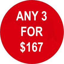 WED-THURS ANY 3 IN STORE FOR $167 INCLUDES ALL LISTINGS BEST OFFERS DEAL - $0.00