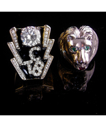 Vintage Elvis collection - 2 elvis rings - TCB and lion - size 9 1/2 and... - $195.00