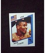 1986 Panini Supersport Alum Sticker #153 Mike Tyson (RC) Repro - $10.00