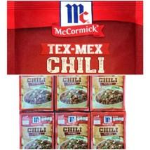 (6) McCormick Tex-Mex Chili Seasoning Spices Mix Packs 1.25 oz Packet Lo... - $29.69