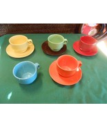 """Great Collectible KIRKLAND'S Set of 4 """"Demitasse"""" CUPS & SAUCERS & 1 FRE... - $8.72"""