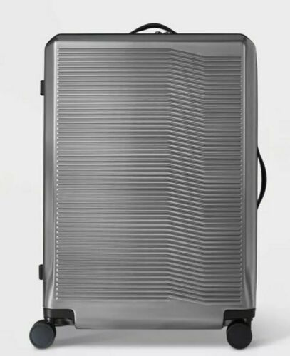 "Primary image for Open Story Hardside 29"" Checked Suitcase gray/silver"