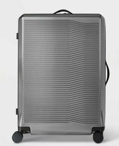 "Open Story Hardside 29"" Checked Suitcase gray/silver - $116.39"