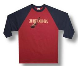 Nirvana-Kurt Cobain Guitar Logo-XL Raglan Baseball Jersey T-shirt - $24.18