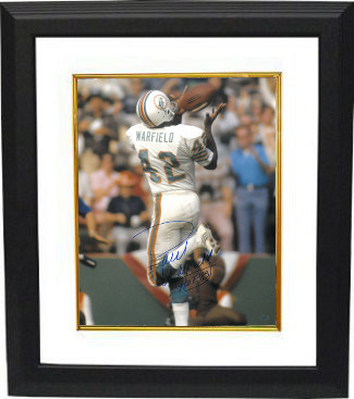 Primary image for Paul Warfield signed Miami Dolphins 16X20 Photo Custom Framed HOF 83 (over the s