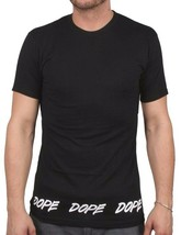 Dope Couture Tagged Hem Tee Black - White Cotton Short Sleeve Tee Print T-Shirt image 1