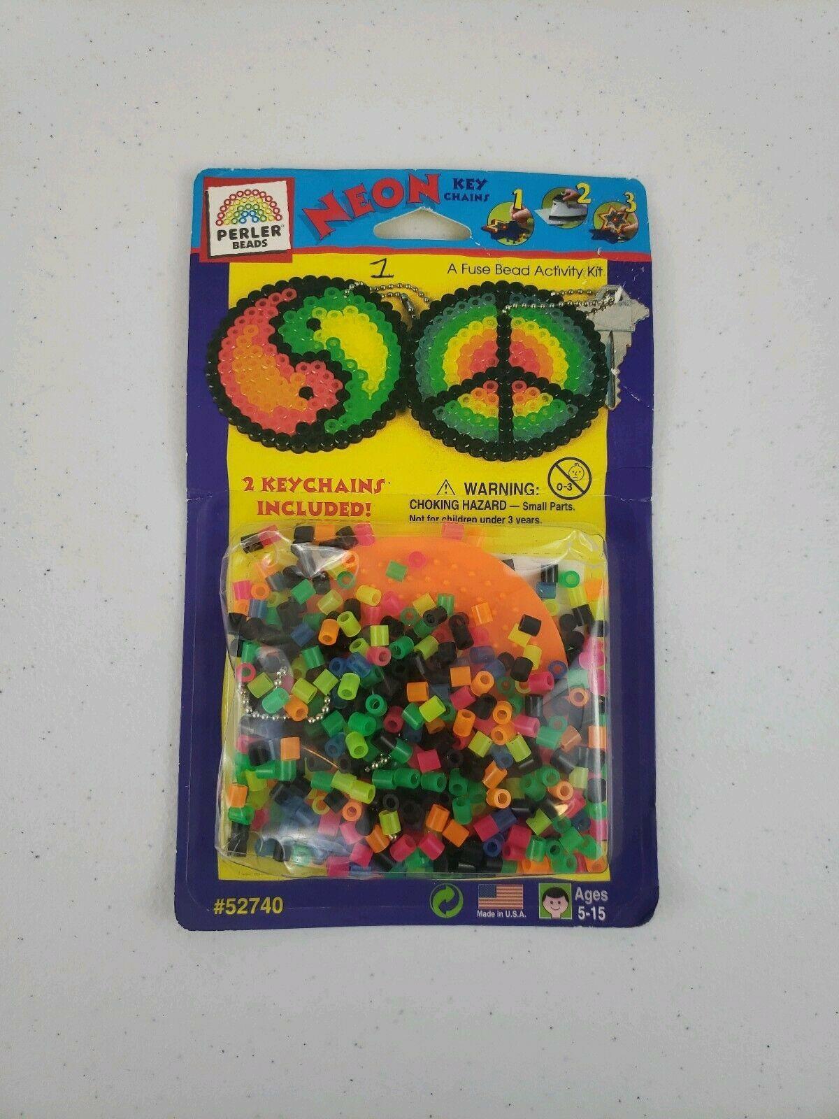 NIB VTG Perler Beads From 1997 Nostalgic Packaging & Design Rare Keychains Retro - $24.00