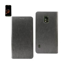 REIKO SAMSUNG GALAXY S5 ACTIVE FLIP FOLIO CASE WITH CARD HOLDER IN GRAY - $8.89