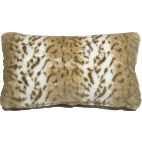 Primary image for Pillow Decor - Tawny Lynx Faux Fur 12x20 Throw Pillow  - SKU: YB1-0006-01-92
