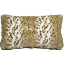 Pillow Decor - Tawny Lynx Faux Fur 12x20 Throw Pillow  - SKU: YB1-0006-0... - £26.77 GBP