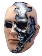 Terminator Salvation Movie Adult T600 Vinyl Mask  - $18.04