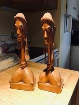 Vintage African Hand Carved Hardwood Bust  - $50.00