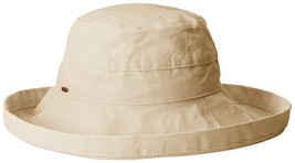 Scala Women's Cotton  Hat with Inner Drawstring and Upf 50+ Rating Natural - $19.79