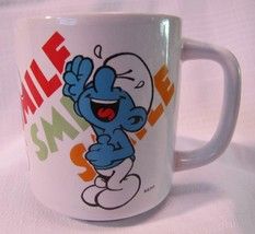 "1981 Hanna-Barbera SMURFS Laughing Smurf ""SMILE""  MUG CUP Wallace Berrie - $14.85"