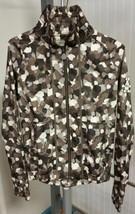 Rudolf Dassler Schuhfabrik by Puma Green Brown Beige Camo Light Jacket Coat S - $49.49