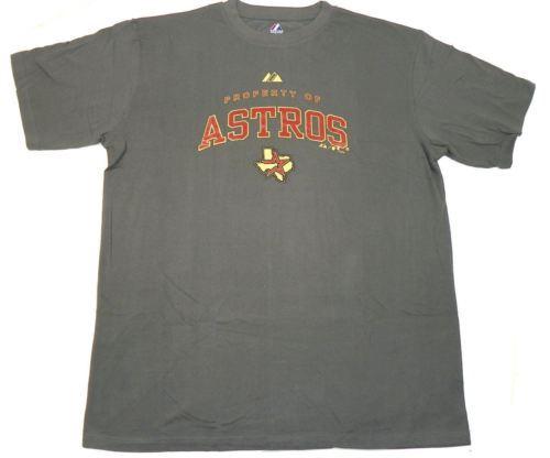 Houston Astros Shirt Men's Big & Tall Baseball Tee MLB T-Shirt Property Of NEW