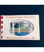 1960s Kodachrome Souvenir Postcard Folder The Nation's Capital In Natura... - £1.91 GBP
