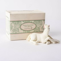 Dept. Department 56 Easter Animal Pony Sitting Lying White Porcelain 200... - $29.69