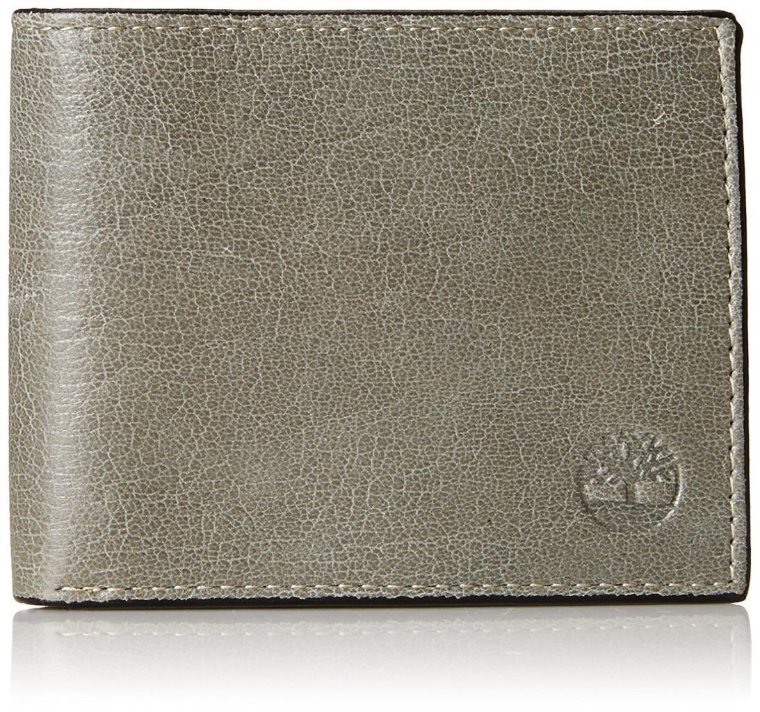 TIMBERLAND MEN'S GENUINE LEATHER WALLET CONCRETE D84218/30 NEW WITH DEFECT