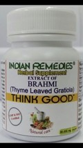 Extract Of Brahmi Indian Herbal Strengthens Nerves, Improves Memor  60 Tablets - $8.26