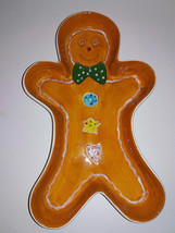 Home Interiors 2004 Ginger Bread Man Serving Dish Or Relish Tray Mpn 57000 - $14.84