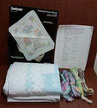 JANLYNN 140-18 Nursery Crib Quilt Embroidery Kit Cuddly Kittens Cat Cros... - $28.53