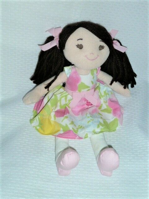 Primary image for GYMBOREE Gymbelle Doll Plush brunette brown pigtails Easter 2012 NWT 12""
