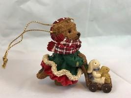 Kirkland Signature Girl Brown Bear Pushing Stroller Vintage Christmas Or... - $8.60
