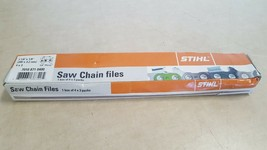"NEW Genuine STIHL Saw Chain File Box (Qty12) 7 7/8"" - 1/8"" Files 7010-871-0400 - $35.10"