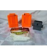 Lot of 2 Nerf N Strike Ammo 6 Dart Cartridge Clip/1 Connector/16 Glow Da... - $28.45
