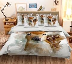 3D Cute Elk Paint 126 Bed Pillowcases Quilt Duvet Single Queen King US Summer - $102.84+