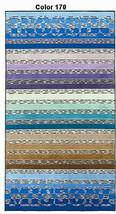 Missoni Home Loris 170 Striped Beach or Pool Towel - Blue, Green, Purple - £150.02 GBP