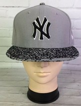 New Era 59FIFTY MLB NY New York Yankees Gray Black Cement Fitted Hat 7 3/8 - £23.83 GBP