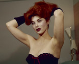 Tina Louise Sultry Glamour Portrait low cut dress 16x20 Canvas Giclee
