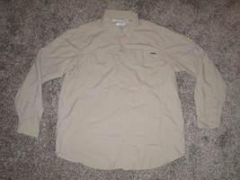 Columbia Omni Shade, Men's Long Sleeve Button Front Shirt, XL, Beige - $12.86