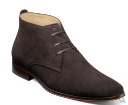 Florsheim Men's Palermo Plain Toe Chukka Boot Brown Suede 12181-245 - $194.90