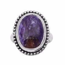 Huge Charoite Gemstone 925 Sterling Silver Party Wear Ring Size-8 SHRI1089 - €15,52 EUR