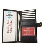 AG Wallets Leather RFID Travel Documents Long ID Credit Card Passport Wa... - $20.79