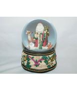 San Francisco Music Box Snow Globe St Nick Santa with Animal Friends 1992 - $19.99