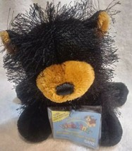 Vintage Webkinz Black Bear Plush HM004 with Sealed Unused Codes B19 - $23.75