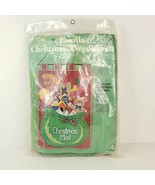 Bucilla Christmas Jeweled Mail Santa's Mail Bag Felt Kit #2840 Partially... - $25.00