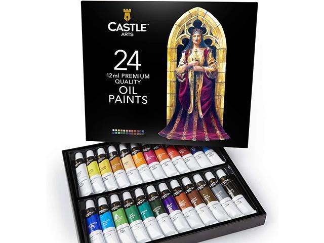 Castle Art Premium Oil Paints, Set of 24 Tubes