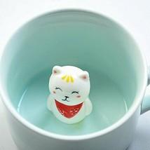 SHINA Coffee 3D Cat Animal Milk Cup Ceramic Lovers Mug Cute Birthday gift