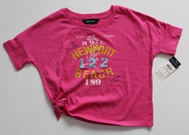 Ralph Lauren Girls Cropped Top Tee Pink Short Sleeve Size 5 NWT - $12.99