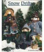"Christmas Winter Pattern Booklet-Snow Drifts-15 1/2"" Snowman-18"" Boy & G... - $7.66"