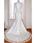 Beautiful Ivory Lace A Line Wedding Gown Dress sz 6 - 8 Medium M Train N... - $455.37